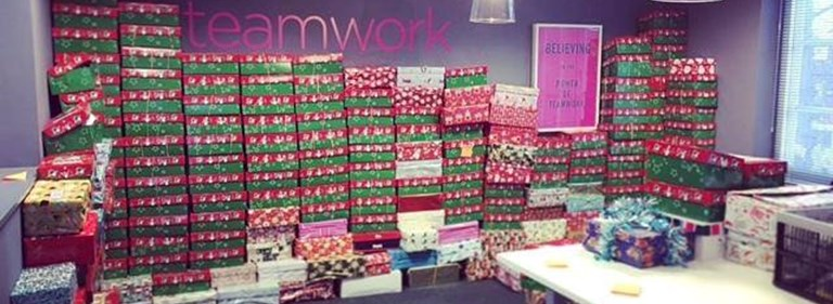 Pure collects over 600 shoeboxes for Operation Christmas Child charity campaign