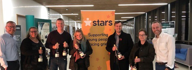 Pure's charity quiz in Cambridge raises £1,612 for children's bereavement support charity STARS