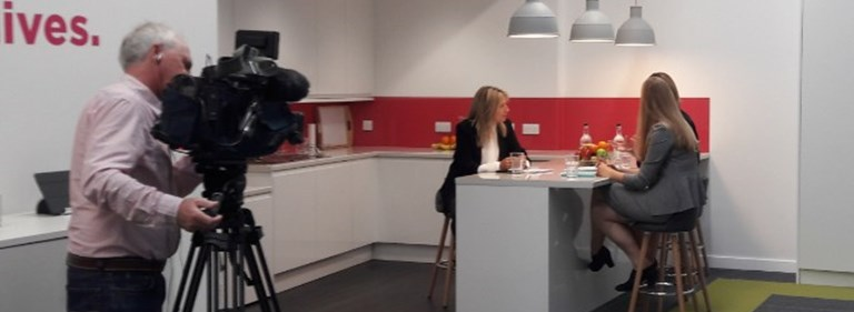 ITV Anglia works with Pure to record major news feature on Women in Leadership