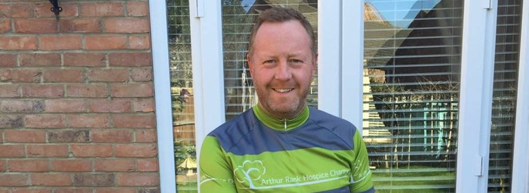 Nick gears up for 100-mile charity bike ride in aid of Arthur Rank Hospice Charity