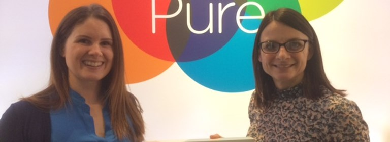 Pure presents lucky competition winner with Apple Watch