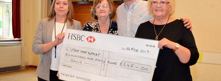 Pure presents charity donation to West Suffolk cardiac support group